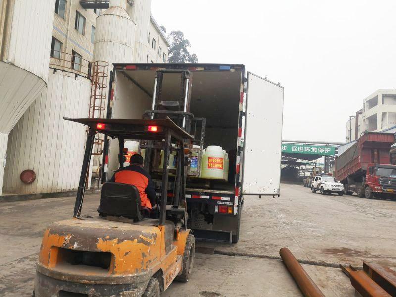 金福纸品捐赠5吨二氧化氯消毒液驰援湖北